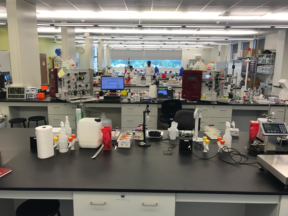 Downstream lab room